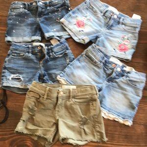 Abercrombie & Fitch girls midi shorts, size 7-8